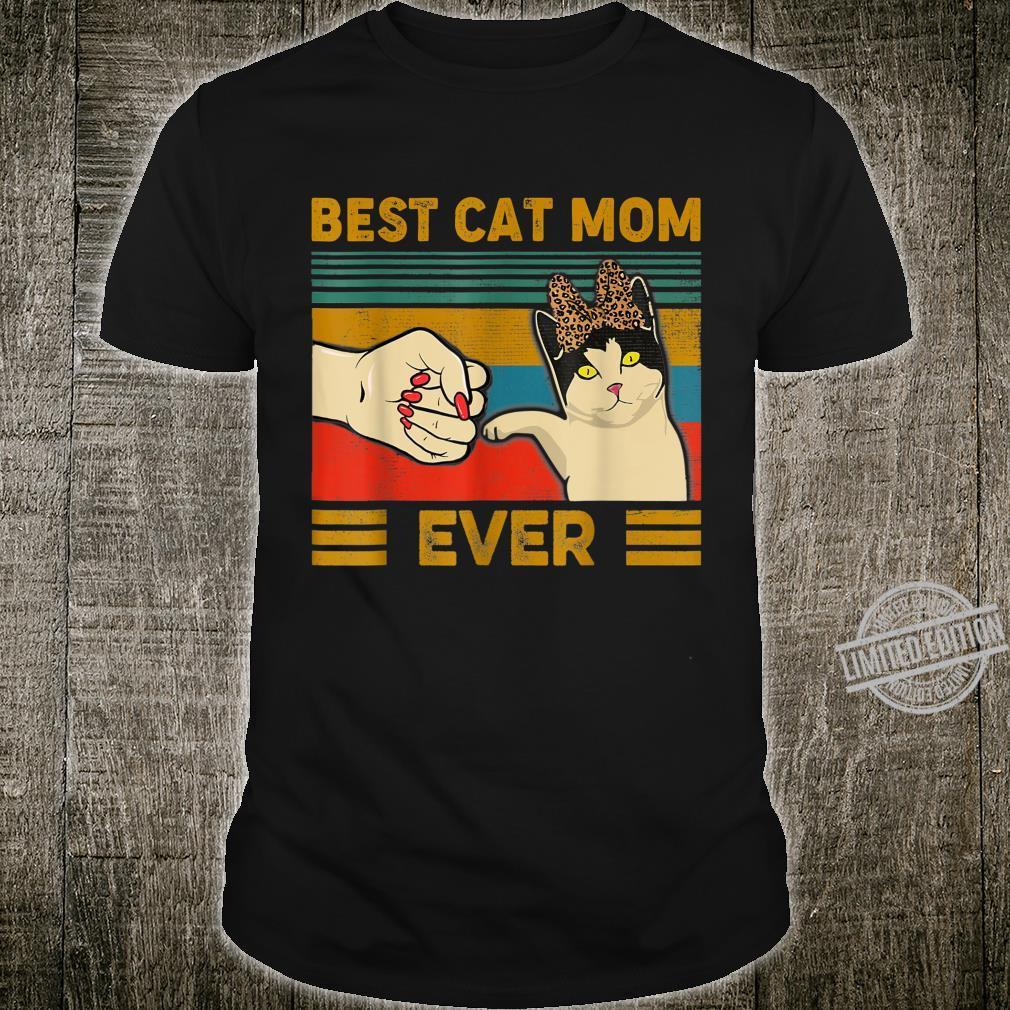 Vintage Best Cat mom Ever Bump fist Unisex Hoodie